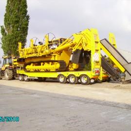 (2010) Draineuse Inter-Drain 3035T, porte-char G&V et JCB Fastrac